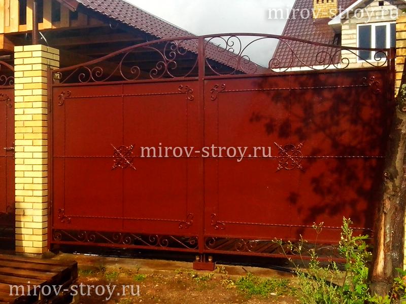 Ворота распашные заказать в перми сколько сделать забор из профлиста